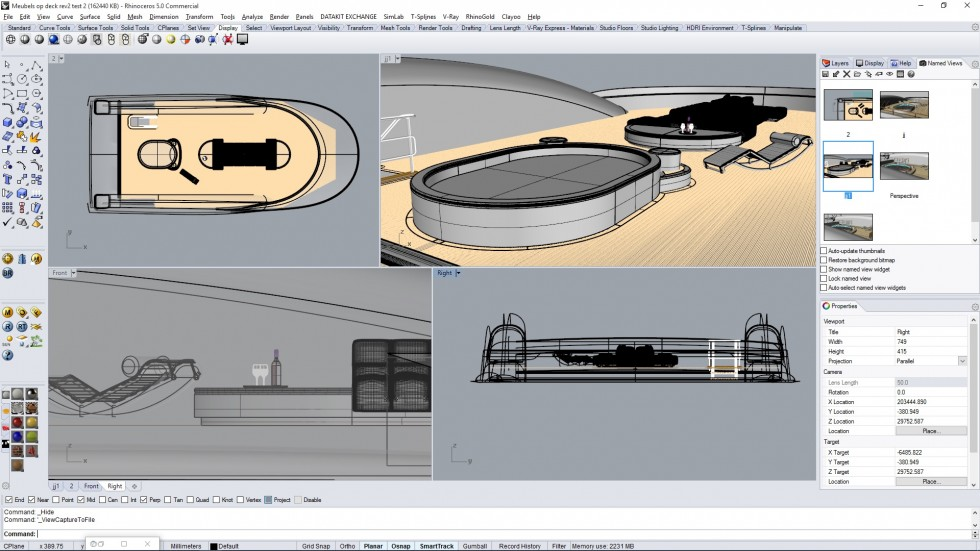 3D modeling yachting